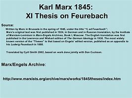 thesis on feuerbach summary