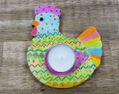Basteln Mit Kindern Zu Ostern by Basteln Mit Kindern Zu Ostern Teelichthalter Henne