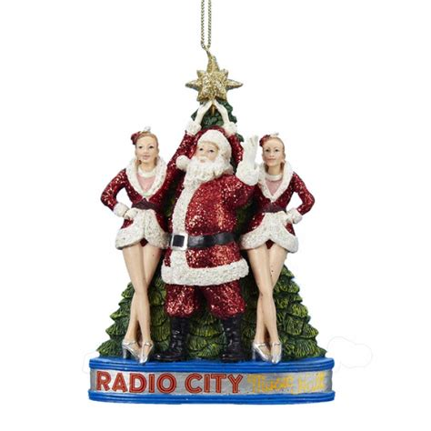 santa claus with the rockettes at radio city music hall