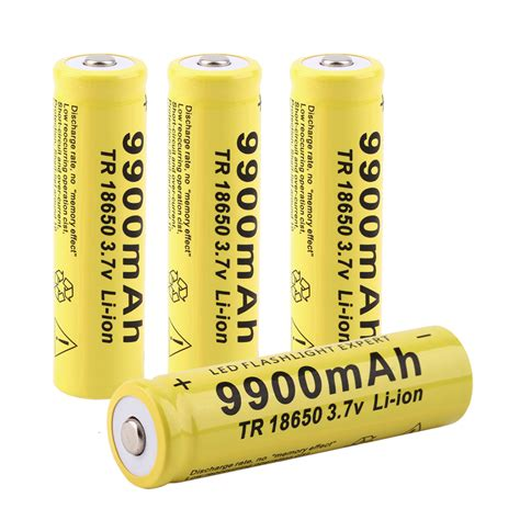 best rechargeable batteries best 18650 capacity rechargeable battery for led