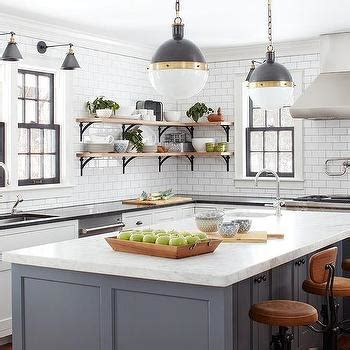 French Iron Chandelier with Pale Gray Island