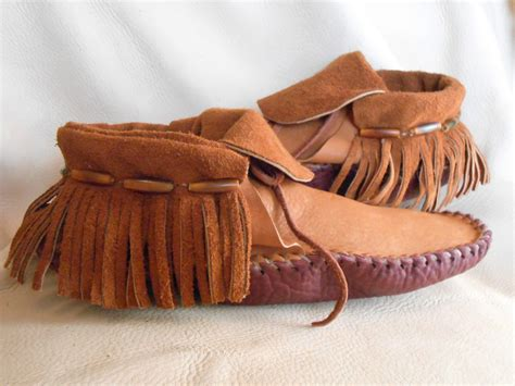 Handmade Moccasins For - moccasins handmade inca style mocs with horn hairpipe