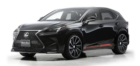 lexus black nx lexus nx wears the black bison label from wald