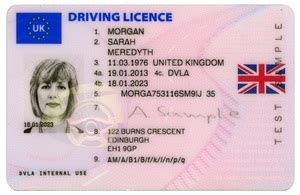 Car Rental In Usa Uk Driving Licence New Uk Driving Licences Endorsed With Union Image
