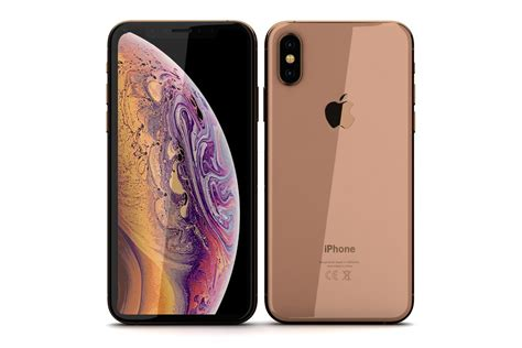 apple iphone xs gold model turbosquid