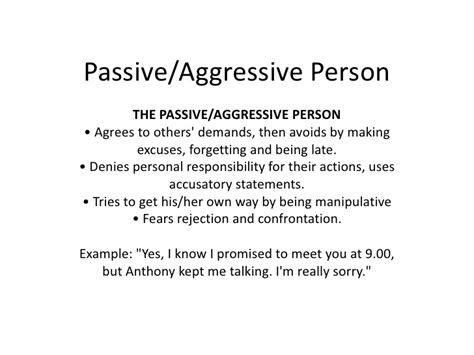 Quotes Passive Aggressive Behavior