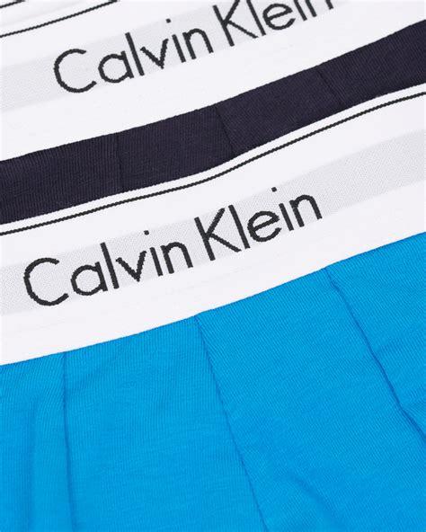 klein ncvt 2 blue light calvin klein modern cotton stretch 2 pack navyu light blue