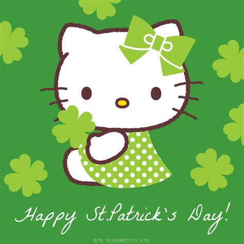 hello kitty wallpaper st patricks day hello kitty on twitter quot as luck would have it