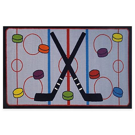 hockey rink rug buy rugs on the 1 foot 7 inch x 2 foot 5 inch hockey rug from bed bath beyond
