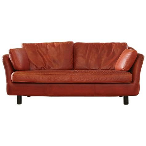 indian sofa indian red leather two seat sofa by dux sweden at 1stdibs