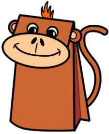 monkey paper bag puppet template conserveanimals just another site