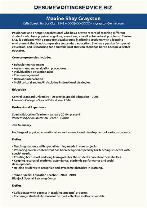 Special Education Paraprofessional Resume Sample Quintessential