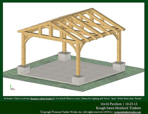 pavilion designs and plans what is the appropriate chord size for my project