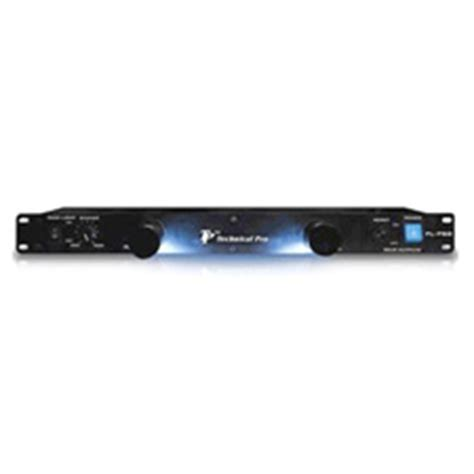 technical pro rlps8 1u rack mount light with rear power supply