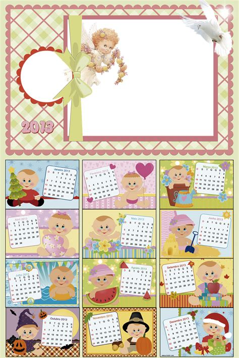 Calendario U Central Central Photoshop Calendario 2013 Para Beb 234 Vers 227 O Meninas