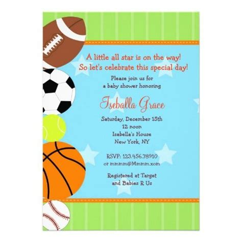 sports baby shower invitations templates 155 best images about invitaciones on birthday