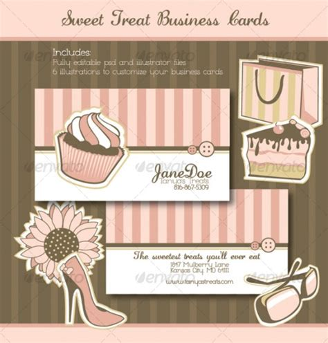 free cake decorating business card templates 20 bakery business card designs for inspiration