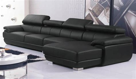 Large Leather Corner Sofas Vinelli Large Leather Corner Sofa With Multi Position Adjustable Headrest Delux Deco