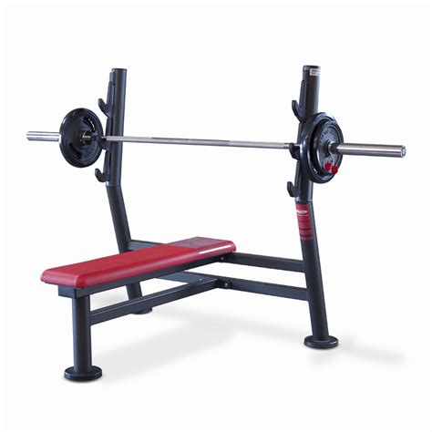 flat bench press barbell olympic flat bench