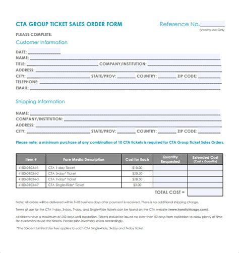 sales order templates sle sales order 10 documents in word pdf