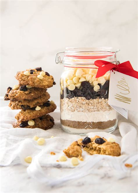 cookie mix in a jar white chocolate cranberry cookies