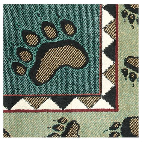 paw print rug pawprints area rug 625243 rugs at sportsman s guide