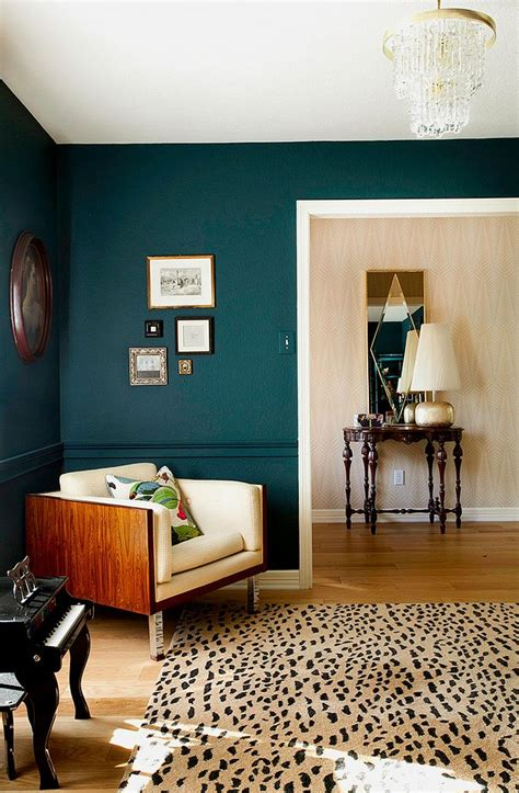 teal walls for the home