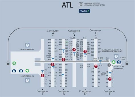 Layout Of Atlanta Airport | atlanta airport map so in need of this things
