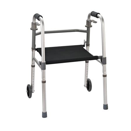 Handicap Stools With Wheels by Homcom Folding Mobility Rollator Walker W 2 Wheels And
