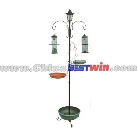 solar l post with planter base solar garden bird feeder with led light planter at base
