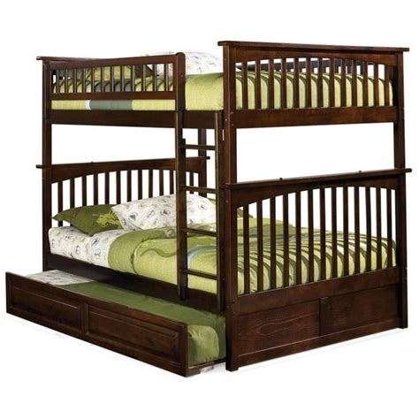 Furniture Columbia atlantic furniture columbia bunk bed in walnut ab55504