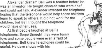 alexander graham bell biography worksheet biography bank inventor alexander graham bell w 4