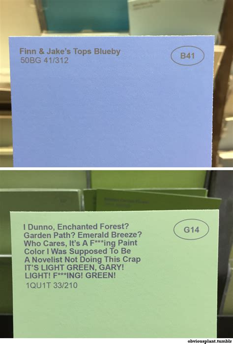 weird paint color names tastefully offensive on tumblr obviousplant renamed