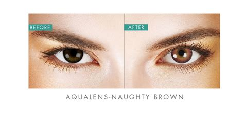 color contact lense aqualens brown color contact lens 1 lens box