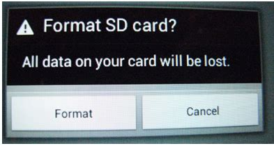reformat sd card android solved sd card is damaged try reformatting it