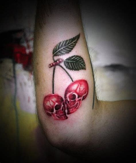 cherry skull tattoo designs cherry skulls cool cool tats