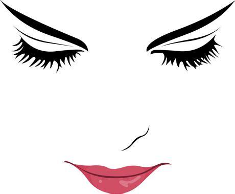 beautiful girl face design vector set free vector in