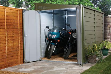 buy secure motorbike garages  home storage trimetals uk
