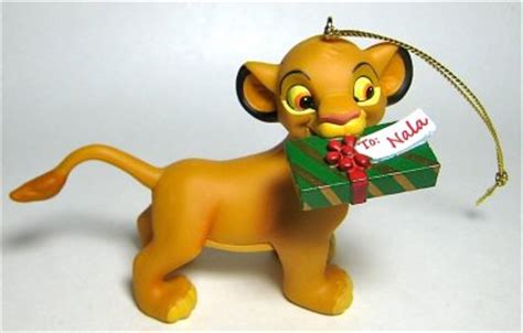 Christmas Ornament Collection - simba with gift for nala ornament grolier from our christmas collection disney collectibles