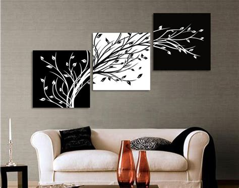 black and white paintings for bedroom aliexpress com buy 3 panels black white trees canvas