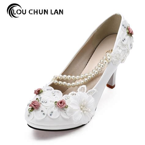 Lace Up Bridal Shoes by Large Size 41 47 White Wedding Shoes Lace Up