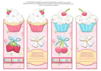 printable girly bookmarks hey cupcake pretty pink bookmarks cup153615 880
