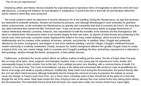 Artistic Essay by Essay On And Lit At Essaypedia