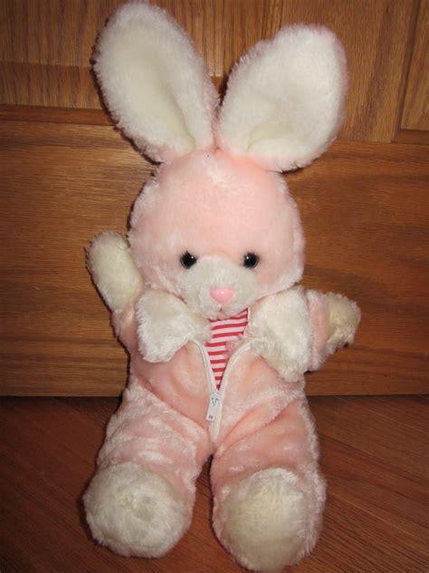 vintage  avon plush pink bunny rabbit  fur jacket