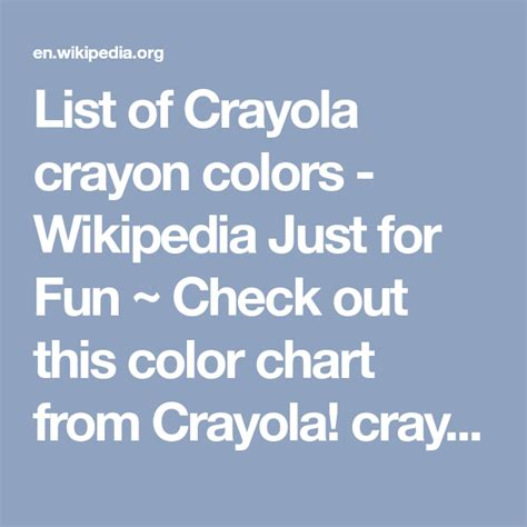 list of crayola colors list of crayola crayon colors just for