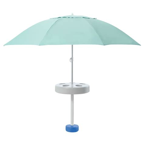 The In Pool Umbrella Hammacher Schlemmer Table Stand Good
