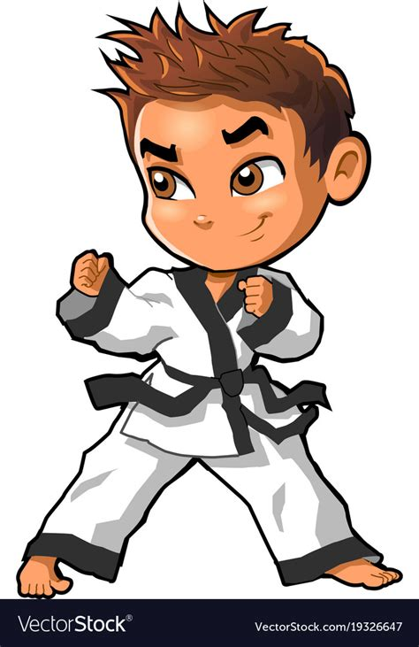 karate clipart karate martial arts tae kwon do clipart vector image