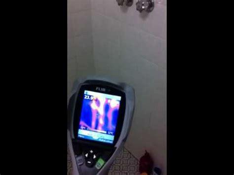 thermal imaging locates water leak for plumber youtube