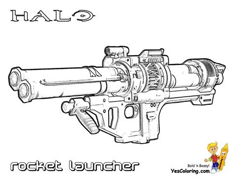 halo guns colouring pages
