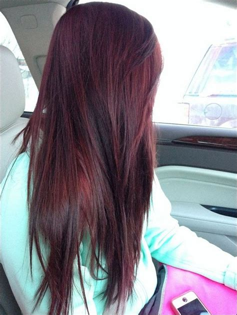 burgundy brown hair color 1000 ideas about burgundy hair highlights on